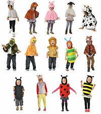 Infantil Niños Chicos Chicas zoo animal de granja Cape & tabardo Fancy Dress Up Disfraz
