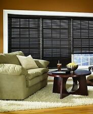 "Custom Made Stained Espresso NO HOLE PRIVACY 2"" Faux Wood Blind FREE SHIPPING!!"
