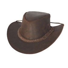 AUSTRALIAN LEATHER OUTBACK BUSH HAT  UNISEX