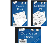 INVOICE BOOK RECEIPT BOOK FULL AND HALF SIZE DUPLICATE BOOK 1-100 NUMBERED NEW