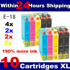 10 Compatible 18XL Ink Cartridge Replace for EPSON Printer