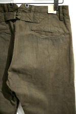 RALPH LAUREN VINTAGE DOUBLE RL RRL : BROWN STRIPED BUCKLEBACK TROUSERS : OUTLAW