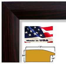 Cherry Maroon 1.5 in Sloped  Elegant Picture Poster Frame Wood Composite 24 in
