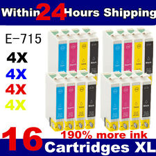 16 Non-OEM T0711 T0712 T0713 T0714 T0715 Cheap Ink Cartridges for Epson Printers