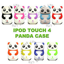 CUTE PANDA PROTECTIVE GEL BACK CASE SILICONE COVER FOR APPLE iPOD TOUCH 4