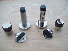 In 3 Styles DOOR STOP STOPPER -SATIN or POLISHED STAINLESS STEEL/like chrome
