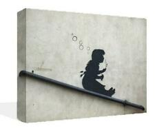Banksy Graffiti Art Mural Imprimer Toile Premium bulle girl photo encadrée