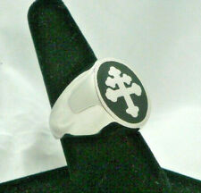 New Enameled Magnum PI Viet Nam Unit Cross of Lorraine Ring Sz 8-15