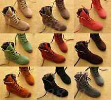 hot Women Girls Fashion Style Lace Up Boots Flat Ankle Shoes SIZE US5-9
