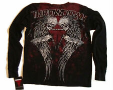 Throwdown Mens LS Thermal Shirt Maverick Black >> SELECT YOUR SIZE