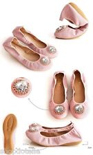 Dotelle Ann'S Emma Jewel Pink Leather Flats Women's Shoes
