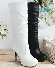 Fashion Platform Women's Girl High Heel Boots Knee High Shoes AU All Size Y047
