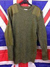 British Army Surplus Commando Green Pullover / Jumper - Wool - Various Sizes