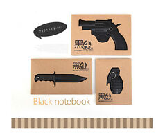 New Binding Notebook 3D Weapon Hardcover Office Stationery Keyholder Memo Diary