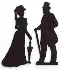Male Victorian Couple Toilet Sign Silhouette Vinyl Wall Art Sticker Traditional