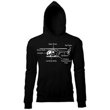 HELICOPTER DIAGRAM MENS PRINTED HOODIE