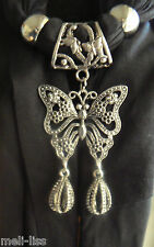 Jewellery Pendant Scarf Jewelry Necklace Scarves- Metal Beautiful Butterfly