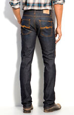 AUTHENTIC MENS NUDIE JEANS DENIM CO SLIM JIM ORGANIC DRY USED INDIGO ITALY $220