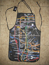 Kitchen Apron  NYC Manhattan Subway lines map MTA License product