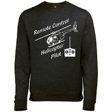 REMOTE CONTROL HELICOPTER RETRO MENS PRINTED PILOT SWEATSHIRT JUMPER