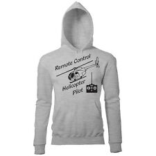 REMOTE CONTROL HELICOPTER RETRO MENS PRINTED PILOT HOODIE