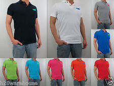 NWT HOLLISTER Men's Muscle Fit Big Seagull Rockpile Polo T Shirt By Abercrombie