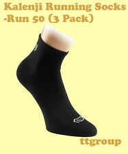 Kalenji Men's Running Outdoor Sports Training Breathable Socks - 3 Pairs (Black)