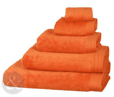 Orange Luxury Egyptian 100% Combed Cotton Towels - Super Soft Quality Towel