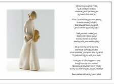 ♥ Personalised Wedding Day Poem Gift ♥ From Mother of Bride to Daughter ♥