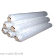 CLEAR STRETCH PALLET SHRINK WRAP ROLLS OFFER 400MM GENUINE CLING FILM FREE P&P !