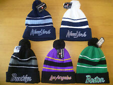 Bnwt Airwalk City Beanie Bobble Hat Various Designs One Size