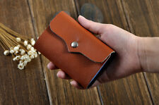 Genuine Cow Leather Woman Lady Business ID Credit Card Case Holder Bag Wallet