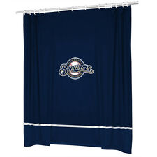 Milwaukee Brewers COMBO DEAL Shower Curtain & Window Valance Sets - See Options!