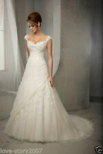 New White/Ivory Tulle Wedding Dress Bridal Gown Custom size 6 8 10 12 14 16