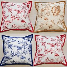 Floral Indian cotton cushion covers - Mala, different designs front and back