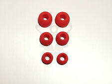 3 Pair Replacement Tips All Monster Beats In Ear Buds Earphones Rubber Soft RED