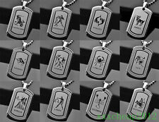 Zodiac constellation of 12 Pendant Stainless Steel Necklace