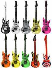Inflatable Air Guitar - Choose From 8 Colours - 106cm Blow Up Rock & Roll Party