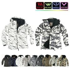 Military Winter Mens Womens FullZip Snowboard Ski Jacket Hoodie Hooded Coat Top