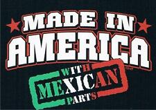MADE IN AMERICA WITH MEXICAN PARTS Kids T-Shirt 6,12,18,24 MOS, &2-4 XS - 14-16L