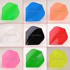 10 x SETS POLY PLAIN DART FLIGHTS - Choose From 11 Colours - Standard Shape