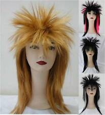 80s Ladies Glam Punk Rock Rocker Chick Tina Turner Wig Fancy Dress Costume
