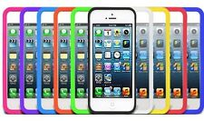 Soft Silicone Silica Gel Skin Case Cover For iPhone 5 5G 9 Colors