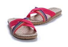 Outdoor Indoor Hemp Jute Bamboo charcoal Slippers Sandals - wemen,pink