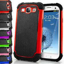 Dual Layer Defender Case for Samsung Galaxy S3 i9300 Hybrid Hard Silicone Cover