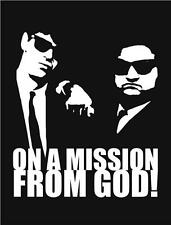 Blues Brothers on a Mission from God Vinyl Wall Art Sticker in any of 24 Colours
