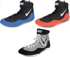 Nike Inflict Wrestling Boxing Shoes Low Top MMA Grappling Gear Red Blue Silver