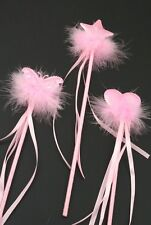 Fluffy Pink and White Shimmer Wand Angel Fairy Fancy Dress Nativity Wands