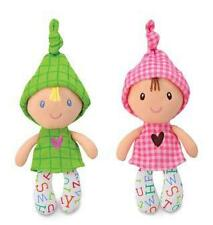 """Kids Preferred Smarty Kids 6"""" Squeaker Baby Doll Green or Pink Plush Lovey NWT"""