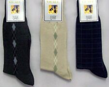 "Wholesale 12 Pairs ""Vigaro"" Mens Cotton Dress Socks - Diamond Print  (#EHSM9280)"